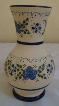 Florero Globo de cerámica de alta temperatura decorado a mano diseño ornamental