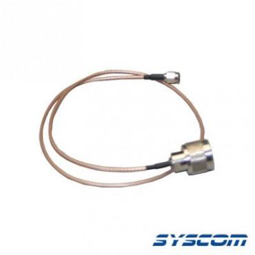 Cable RG-316 con conectores N Macho en un extremo y en el otro SMA Macho
