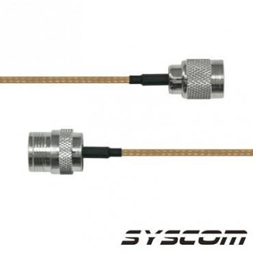 Cable RG142, con conectores N Hembra en un extremo y en el otro TNC Macho Inverso
