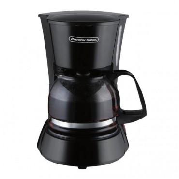 Cafetera negra Proctor Silex de 4 tazas