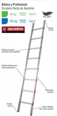 ESCALERA RECTA AL DE 12 PELDAÑOS TIPO II