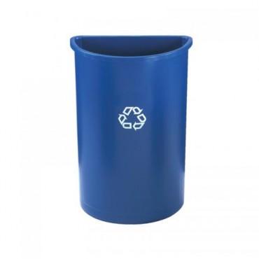 Contenedor semicilíndrico para reciclaje