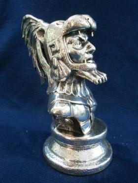 BUSTO JAGUAR CHICO, en  artesanías de plata