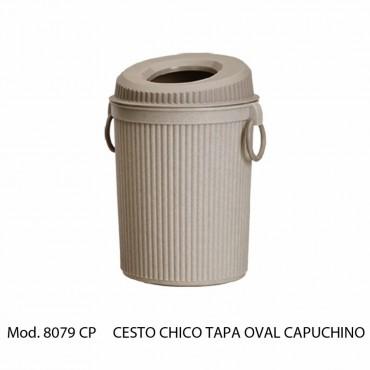 CESTO De BASURA CHICO TAPA OVAL 7 LITROS