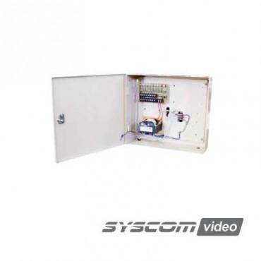 Fuente de poder para CCTV de 8 salidas a 24 Vca, 8 A
