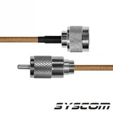 Cable RG142, con conectores N Macho /UHF (PL-259) Macho