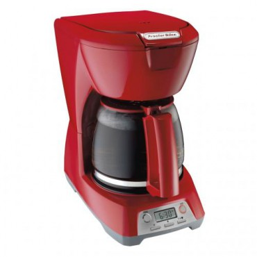 Cafetera roja Proctor Silex de 12 tazas