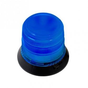 Burbuja Brillante de 6 LEDs, Color Azul con Montaje Magnético