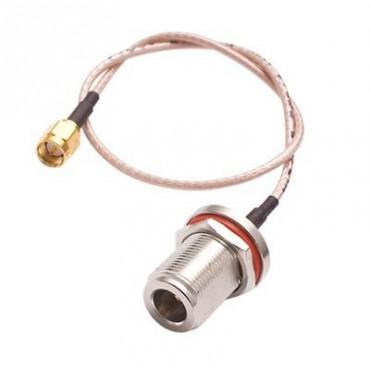 Cable RG-316. Conectores N HEMBRA/SMC MACHO INVERSO.