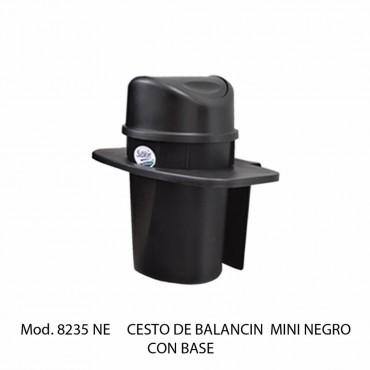 BOTE DE BASURA CON BALANCÍN MINI CON BASE, SABLÓN