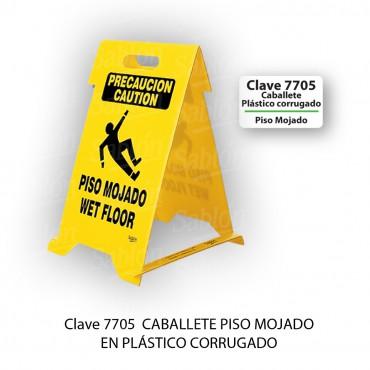 CABALLETE: PISO MOJADO (PLASTICO CORRUGADO), SABLON