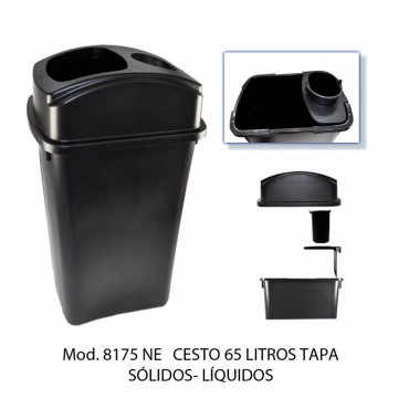 CESTO 65L TAPA SOLIDOS-LIQUIDOS, SABLÓN