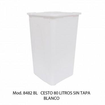BOTE DE BASURA SIN TAPA 80 LTS