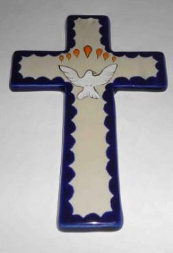 Cruz de Cerámica de alta temperatura decoradas a mano