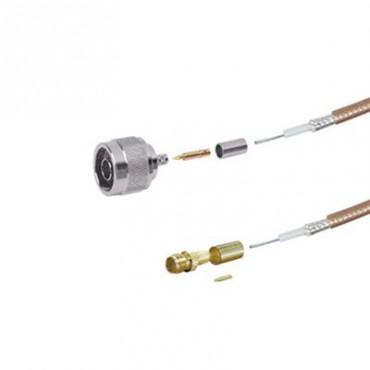 Jumper de 100 cm tipo RG-142/U con conectores N Hembra y SMA Macho Inverso (Hasta 8 GHz)