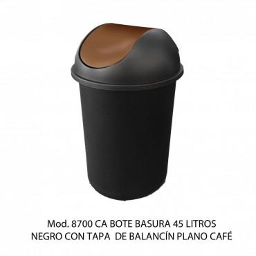 CESTO REDONDO LISO CON BALANCÍN Y TAPA