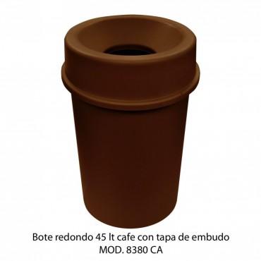 CESTO REDONDO CON TAPA Y EMBUDO 45L, SABLON