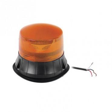Burbuja LED giratoria de color ámbar, 9 LEDs, montaje permanente