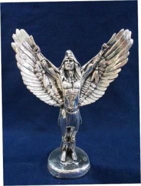 CABALLERO ALAS EXTENDIDAS, en artesanías de  plata
