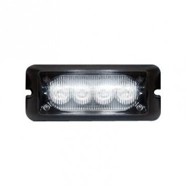 Luz auxiliar brillante con 4 LEDs, color azul, mica transparente
