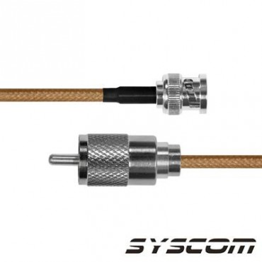 Cable RG142,con conductores BNC Macho / UHF Macho