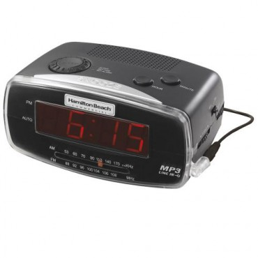 MP3 Black RELOJ ALARMA / Radio