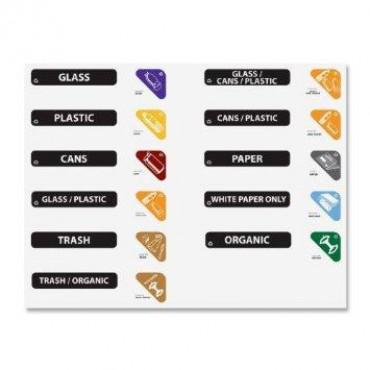 Juego de etiquetas para reciclaje