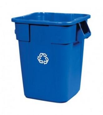 Contenedor BRUTE® cuadrado para reciclaje sin tapa