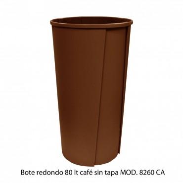 BOTE DE BASURA REDONDO SIN TAPA 80 LTS, SABLON