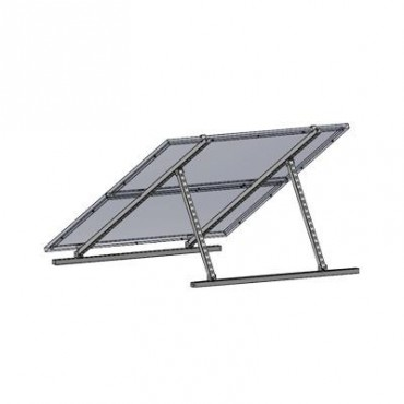Montaje universal para 2 Módulos Fotovoltáicos de 250W para techos