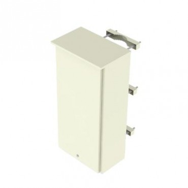 Gabinete de lámina galvanizada para 3 baterías PL110D12 para montaje en poste