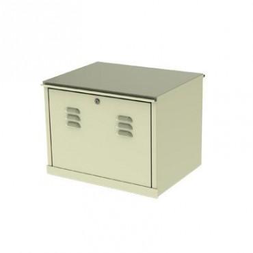 Gabinete para resguardo de baterías (hasta dos baterías PL110D12) con opción para montaje en poste