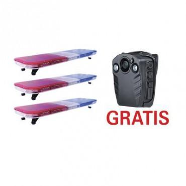 GRATIS!! 1 BODYCAM en la compra del paquete de 3 barras de luces de 46