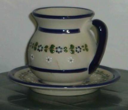 Taza y plato Michoacano elaborado en cerámica de alta temperatura