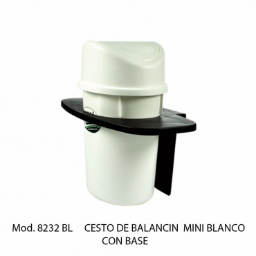 CESTO BALANCIN MINI BLANCO C/ BASE, SABLON