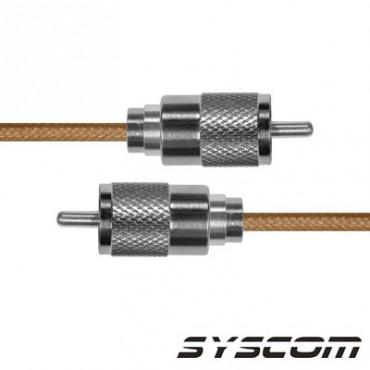Cable RG142, con conectores UHF(PL-256) Macho / UHF (PL-259) Macho
