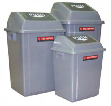 cestos para basura CON BALANCÍN, PELDAÑÓS