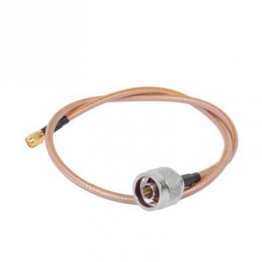 Cable de 60 cm tipo RG-142/U con conectores N Macho y SMA Macho Inverso (Hasta 8 GHz)
