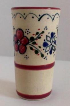 Vaso Tequilero Flor/guía- elaborado en cerámica de alta temperatura