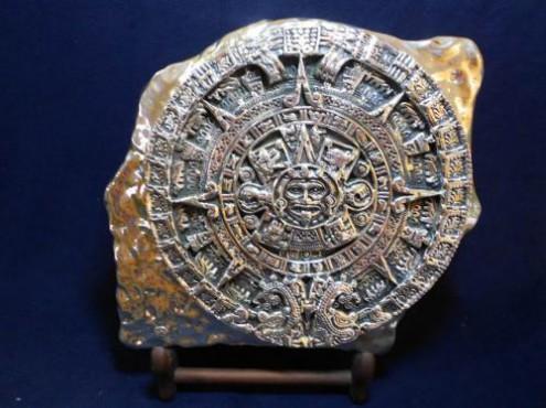 Calendario Azteca Grande,en  artesanías  en plata
