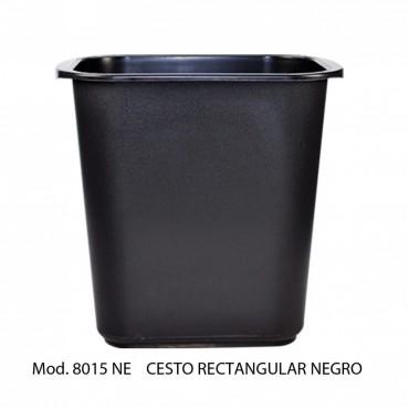 Bote de basura rectangular  Color Negro