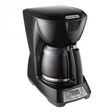 Cafetera negra Proctor Silex de 12 tazas