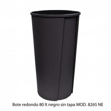 BOTE DE BASURA REDONDO SIN TAPA 80L, SABLON