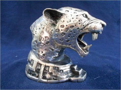 CABEZA DE JAGUAR 2, en artesanias de plata