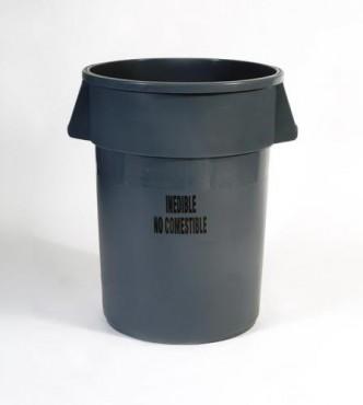 Contenedor BRUTE® sin tapa, para servicio de alimentos de 121 L